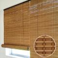 スモークドバンブーロールスクリーン(幅88×高さ135cm)RC-1371S 高級すだれ 燻製竹簾 ロールカーテン