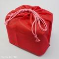 お重用巾着袋6.5寸うす紅
