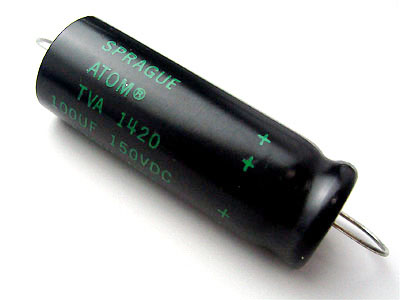 Sprague ATOM 100μF/150VDC