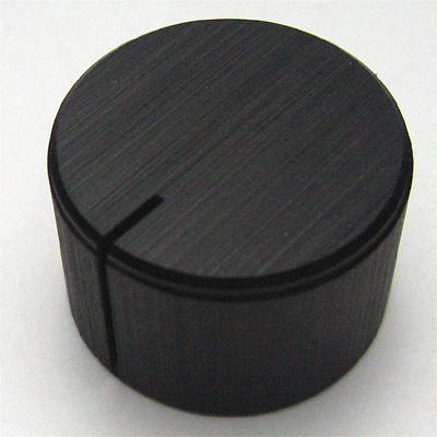 アルミインチノブ 22mm ブラック