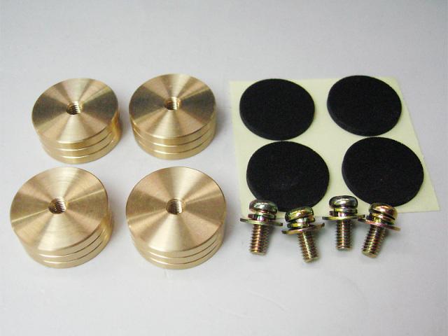 真鍮削り出しインシュレータセット (22X9)
