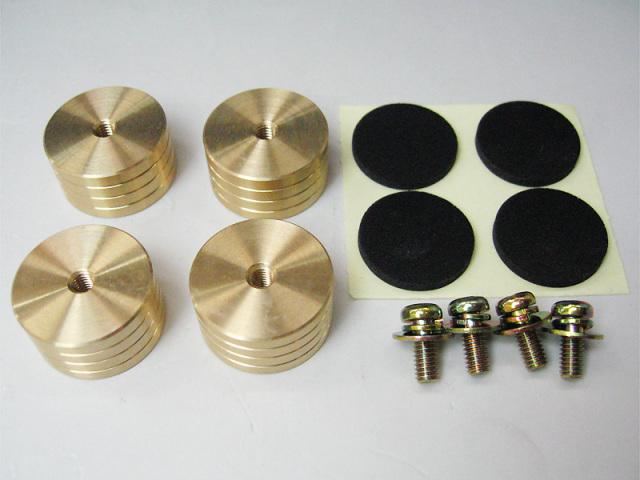 真鍮削り出しインシュレータセット (22X12)