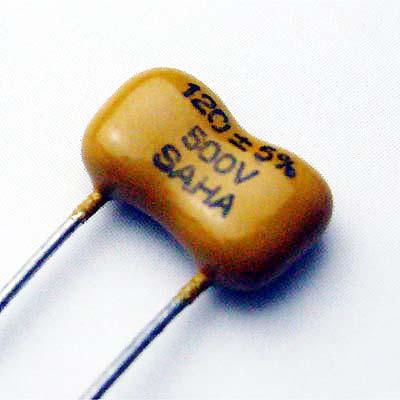 SAHA ディップドシルバーマイカ 120pF/500VDC