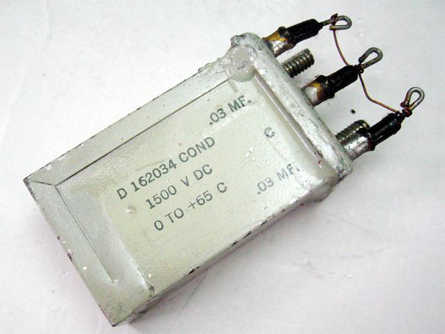 WE オイルコンデンサ 0.03μFx2