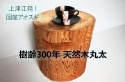 樹齢約300年アオスギ天然木丸太 幅330mm×奥行320mm×高さ350mm 重さ15.6kg