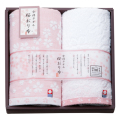 桜おり布 フェイスタオル2枚セット No.20 (ピンク)