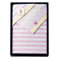 ガーゼとパイルの今治産たおる バスタオル No.20 (ピンク)