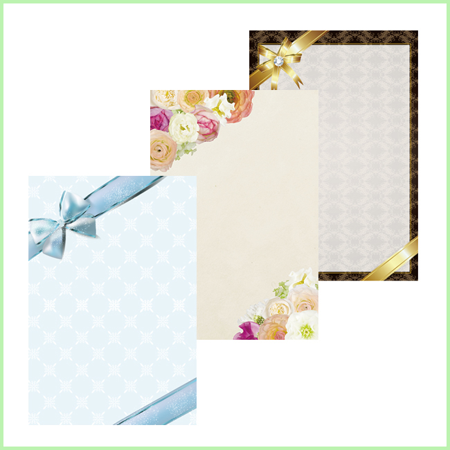 挨拶状カード (多用途・手書き用) ※当店で希望の文章を印刷も可能