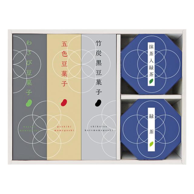 <豆和菓> 豆菓子・お茶詰合せ No.20