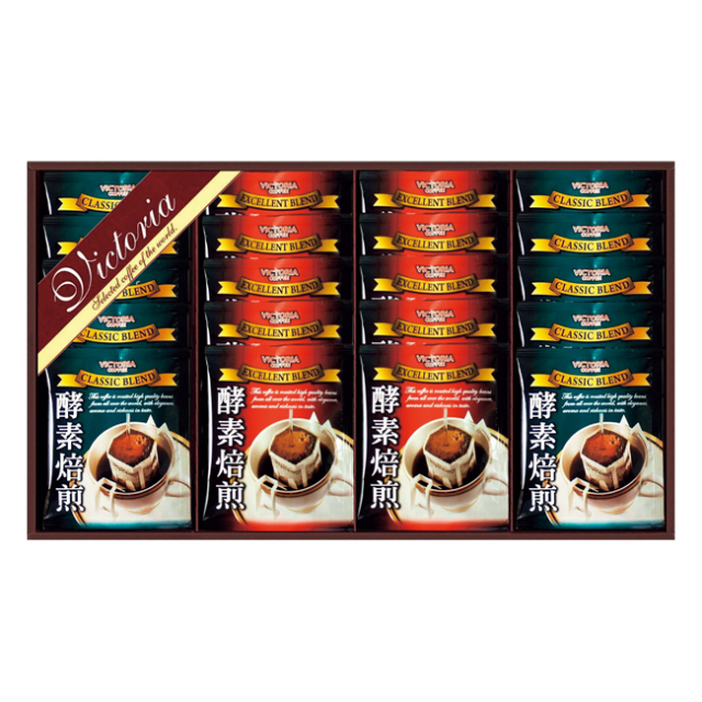 ビクトリアコーヒー 酵素焙煎ドリップコーヒーセット No.25