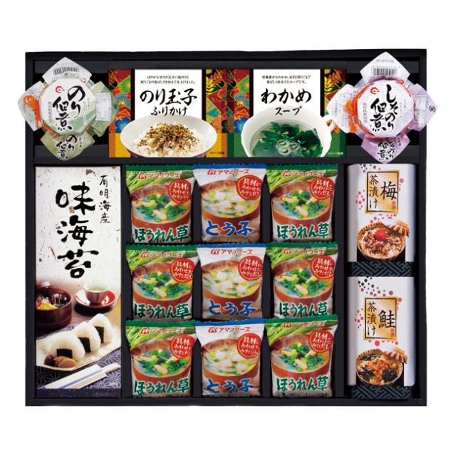 【送料無料】アマノ フリーズドライみそ汁&食卓詰合せ No.50
