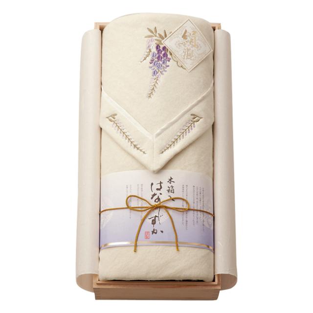 木箱入り はなしずか シルク混綿毛布(毛羽部分) No.150