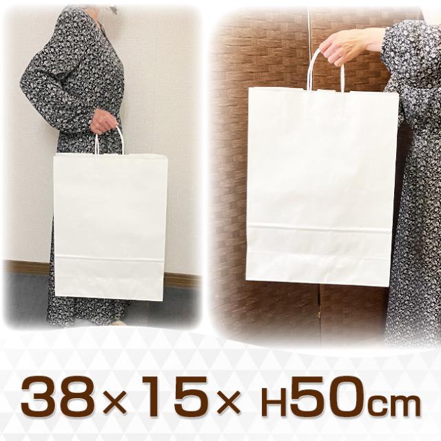 手提げ紙袋 白無地 カスタム
