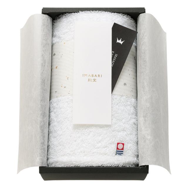 IMABARI殿堂 ~天然水仕上げ~ 日本製 愛媛今治 ハンドタオル No.15 (ホワイト)