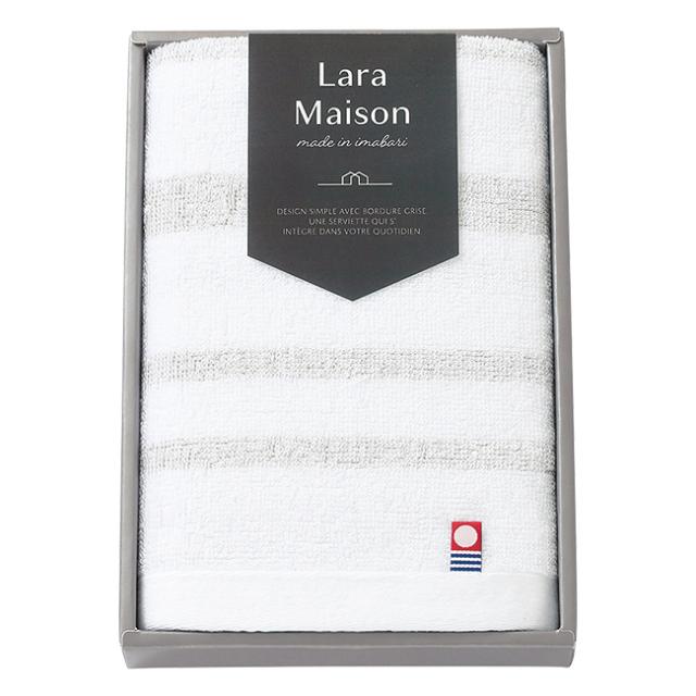 今治 Lara Maison フェイスタオル No.10 (ベージュ)