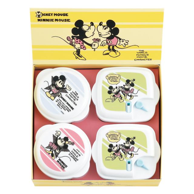 ミッキー&ミニー ヴィンテージコミック 電子レンジ容器4pcセット No.15