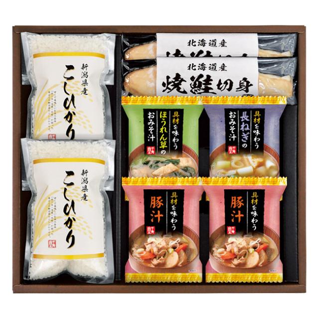 新潟県産こしひかり 食卓彩セット No.30