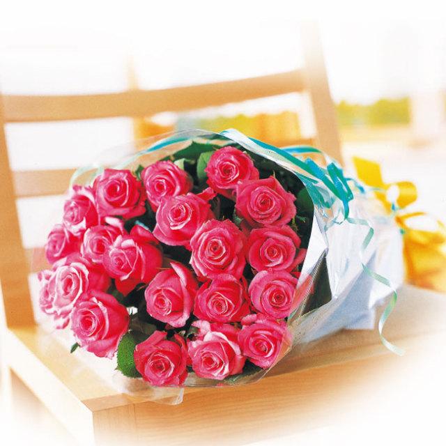 バラの花束ピンク