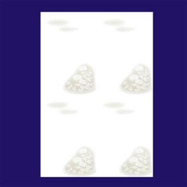 喪中/レーザー「大輪菊」4丁判590」/100枚(ハ19594)