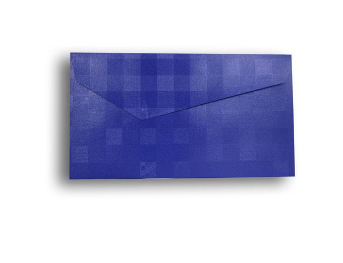 【ZAN月】 プチ封筒 パールチェック ブルー