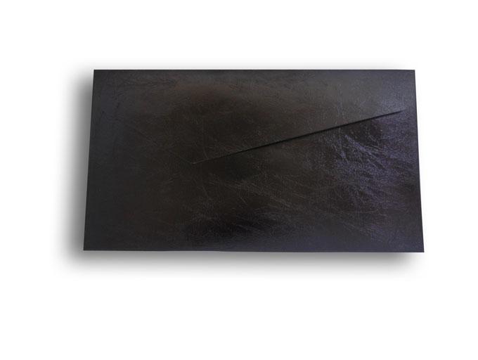 【ZAN月】 レギュラー封筒 エナメルレザー ブラック