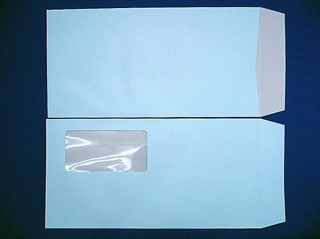 長3封筒 セロ窓付 (中身が見えない)プラテクトブルー 80g 1,000枚(3A0800)