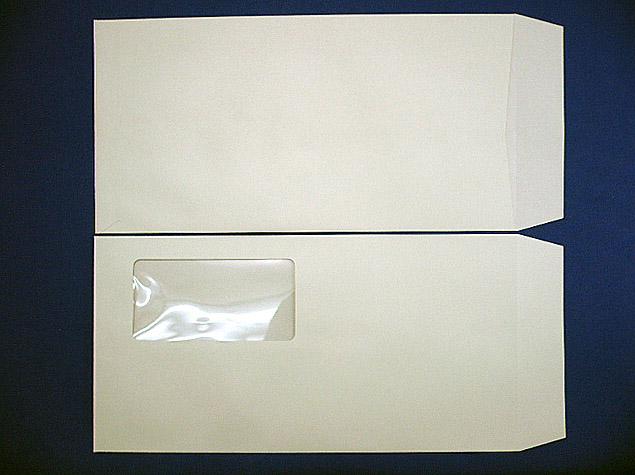 長3封筒 セロ窓付 (中身が見えない)プラテクトグレー 80g 1,000枚(3A0810)
