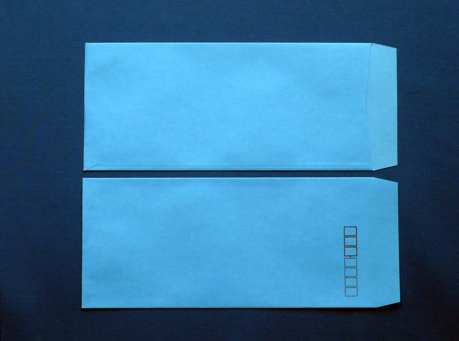 長4封筒 ブルー 70g L貼 1,000枚(407101)