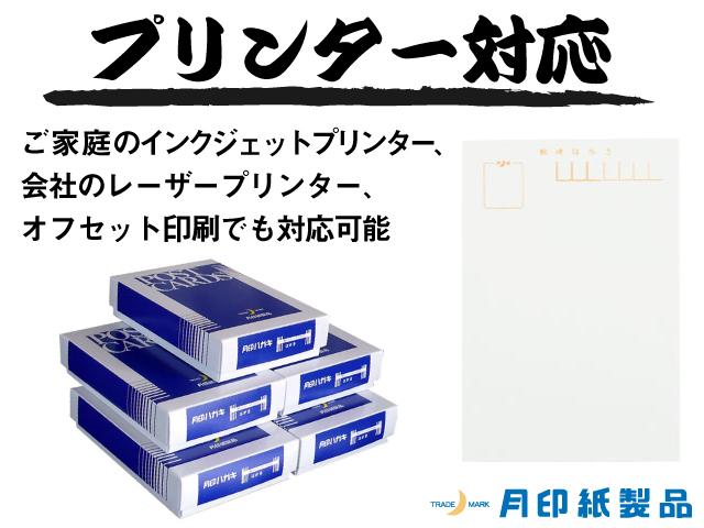 マルチホワイトはがき(薄口)/100枚 (ハ47840)