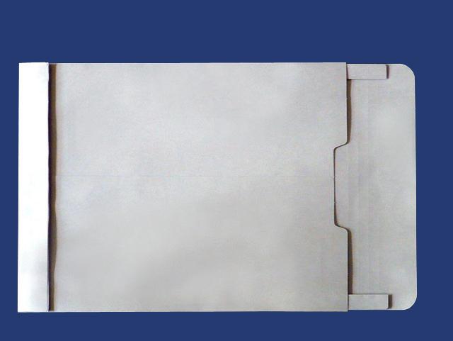 角0封筒 マチ付 保存袋 グレー 120g 玉なし/100枚(H00B12)
