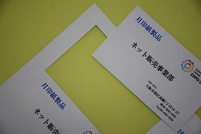 名刺(A4判/薄口)折り曲げカット名刺/100枚 (メ91000) 箱なし