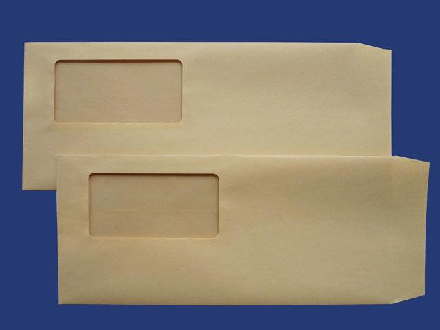 洋4立封筒 クラフト 70g L貼 枠付1,000枚(ヨ40170)