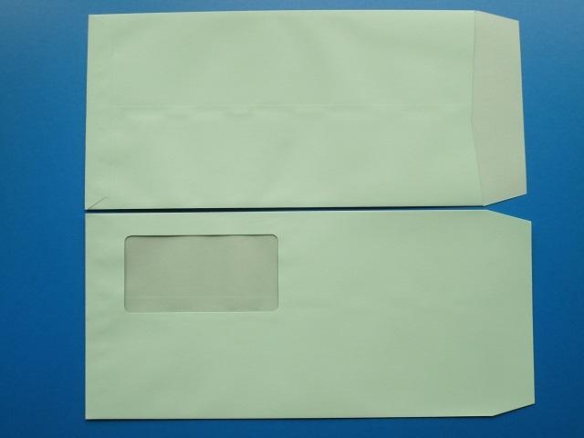 長3封筒 セロ窓付 (中身が見えない)プラテクトグリーン 80g 1,000枚(3A0840)