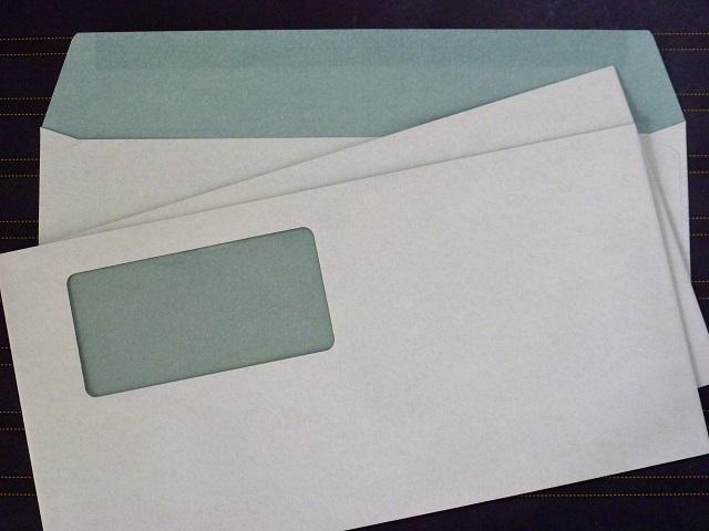 洋0封筒 セロ窓付 カマス貼 洋長3(中身が見えない) プラテクト白菊 100g 500枚(YS0832)