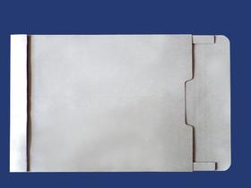 角2封筒 マチ付 保存袋 グレー 120g 玉(マルタック)なし/100枚(H20B12)