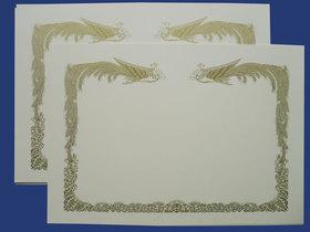 賞状用紙 オフセット対応 A3判-Bクリーム雲なし /100枚 (Ca3b05)