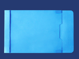 角2封筒 マチ付 保存袋 ブルー 120g 玉(マルタック)なし/100枚(H20B10)