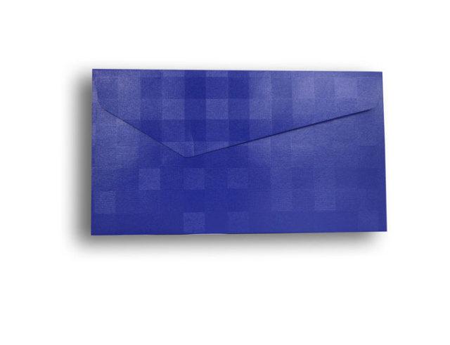 【ZAN月】 レギュラー封筒 パールチェック ブルー