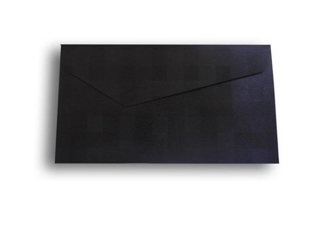 【ZAN月】 プチ封筒 パールチェック ブラック