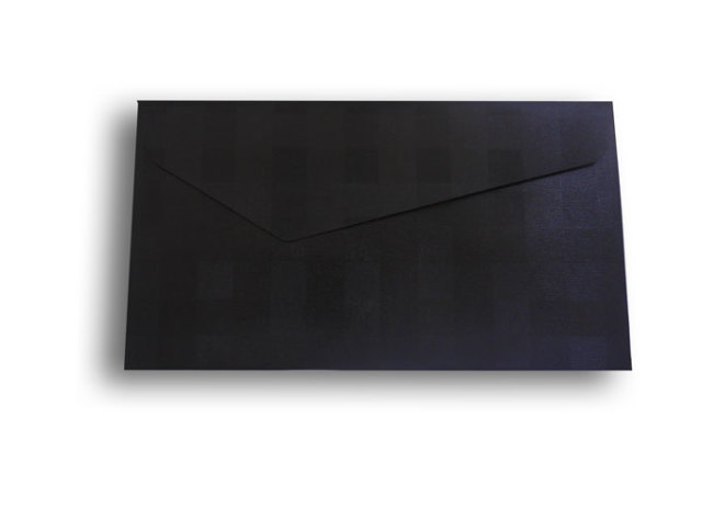 【ZAN月】 レギュラー封筒 パールチェック ブラック