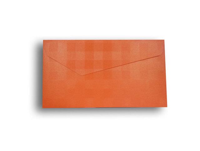 【ZAN月】 プチ封筒 パールチェック オレンジ