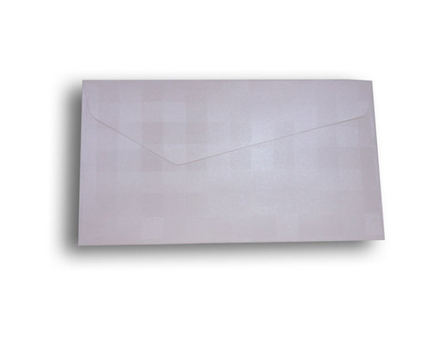 【ZAN月】 プチ封筒 パールチェック ホワイト