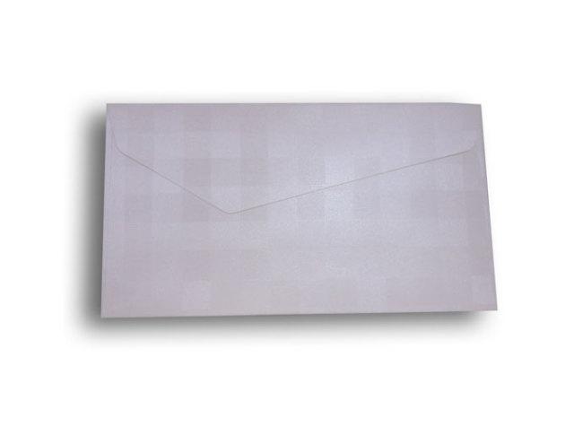 【ZAN月】 レギュラー封筒 パールチェック ホワイト