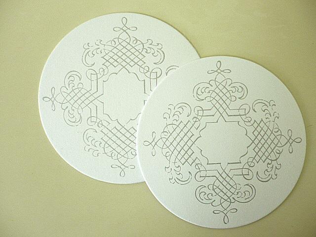 コースター 白丸 模様入/250枚(コ92101)