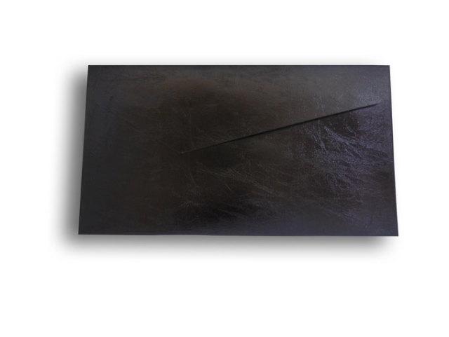 【ZAN月】 プチ封筒 エナメルレザー ブラック