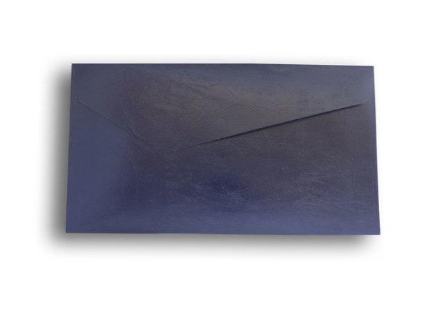 【ZAN月】 レギュラー封筒 エナメルレザー ネイビー