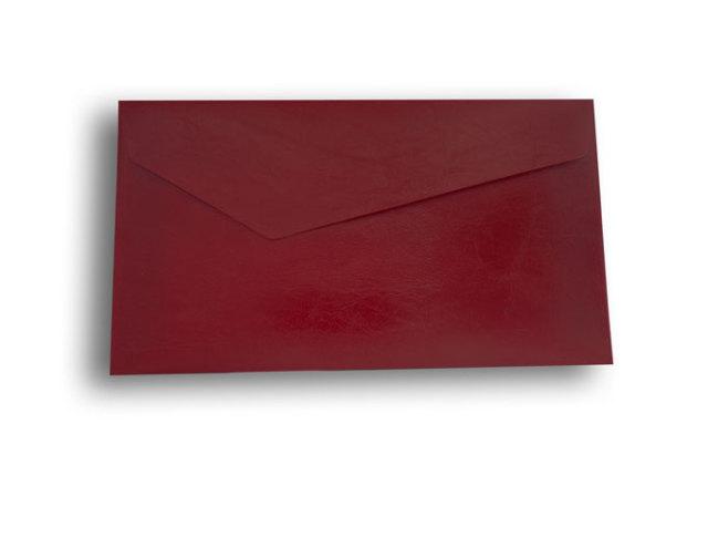 【ZAN月】 プチ封筒 エナメルレザー レッド