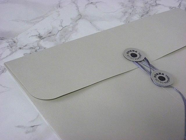 角2封筒 マチ付 保存袋 グレー 120g 玉付(マルタック)/100枚(H21B12)