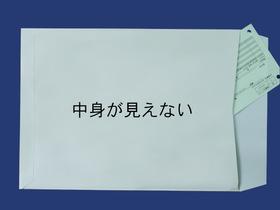 角2封筒 (中身が見えない)プラテクトグレー100g L貼  500枚(K20811) 送料無料