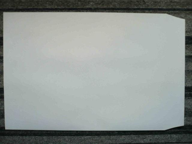 角2ホワイト撥水封筒100g L貼 /500枚 (K2H901) 送料無料